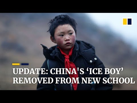 Update: China's 'Ice Boy' removed from new school