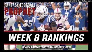 Week 8 Fantasy Football Rankings
