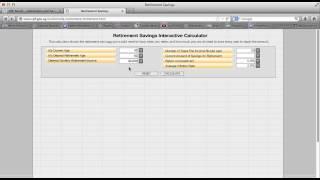 CPF retirement calculator