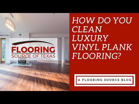 How do you clean luxury vinyl plank flooring?