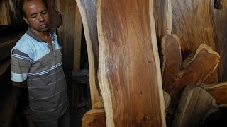 Solid Wood Dining Table Slabs