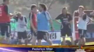 TV AZTECA DEPORTES EN SUDAMERICA - FEDERICO VILAR ENTRENA CON LA SELECCION ARGENTINA
