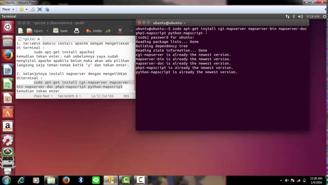 Instalasi Mapserver di OS Linux Ubuntu