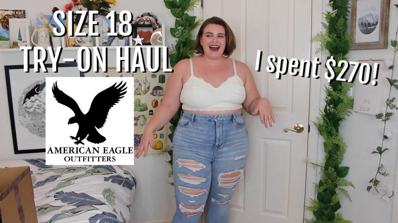6f3b0bdea75 SIZE 18 American Eagle try-on haul - YouTube