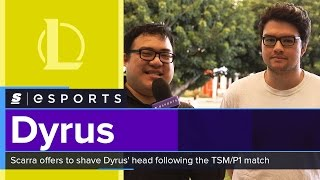 Scarra offers to shave Dyrus' head following the TSM/P1 match