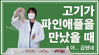 [과채 실험실] 파인애플에 고기를 넣으면 어떻게 될까?