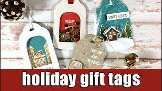 Holiday gift tags   Studio Katia blog hop & giveaway