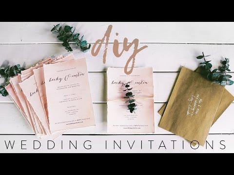 DIY MY WEDDING INVITATIONS WITH ME!