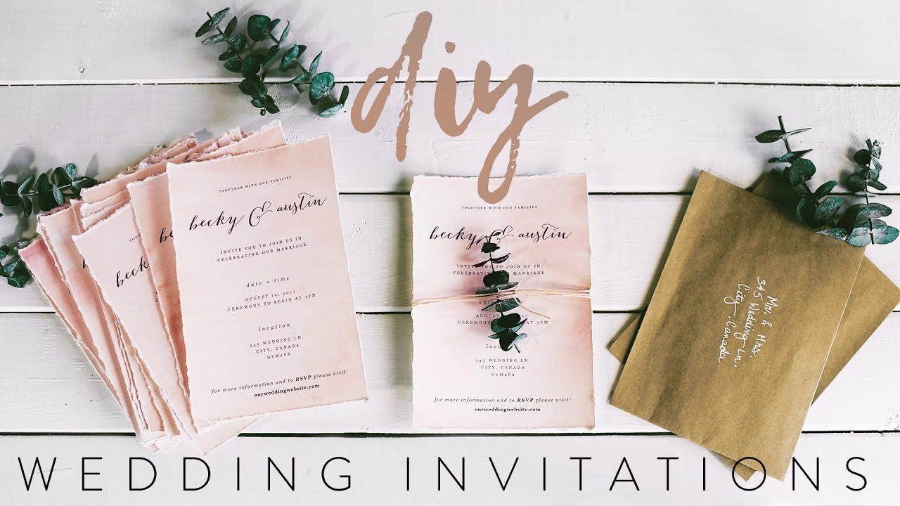 DIY MY WEDDING INVITATIONS WITH ME! - YouTube