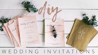 DIY MY WEDDING INVITATIONS WITH ME! by : TheSorryGirls