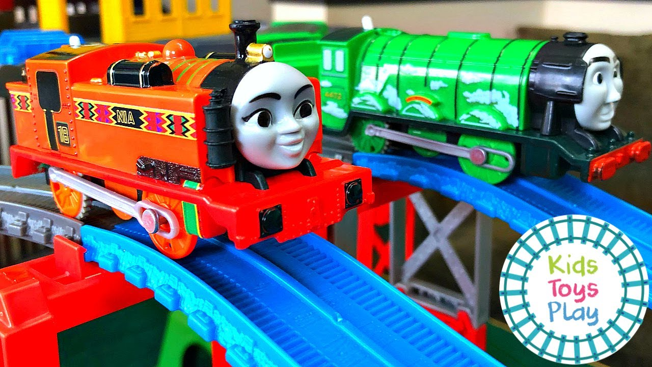 Thomas the Train Sodor Superstation Speedway Races