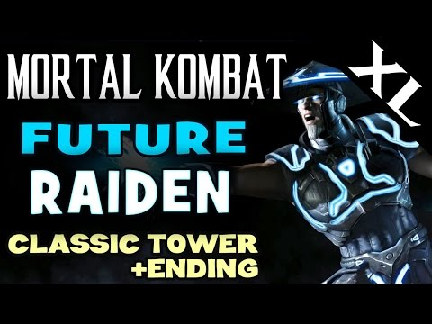 MK XL. Master of Storms Raiden (Future). Klassic Tower and story ending! (Full HD 1080p)