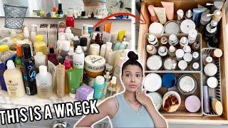 I CLEANED OUT MY DISGUSTING BATHROOM... declutter & organization
