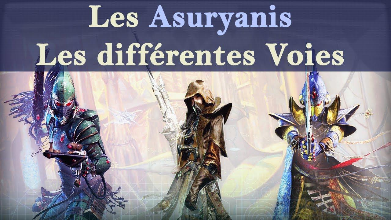 Lore Warhammer 40K - Les Asuryanis - Les différentes Voies