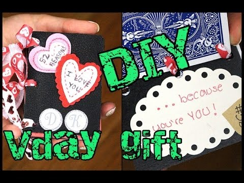 DIY Cards 52 reasons I LOVE YOU Valentines day or Anniversary gift idea