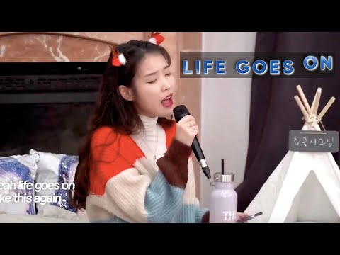 IU Covers Life Goes On By BTS!