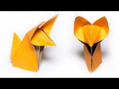 Origami Fox. How to make a cute Fox