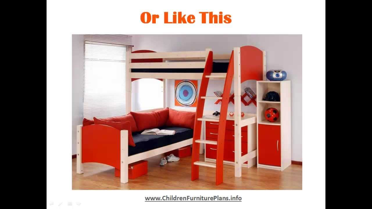 Bunk Beds For Kids - Quick & Easy Do It Yourself Plans ...
