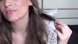 Réaliser une Boucle d'oreilles en Plume (version 1) : native style /feather earrings