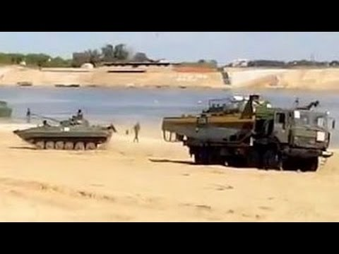 Ukraine war: Russia military learning river forcing tanks and APC