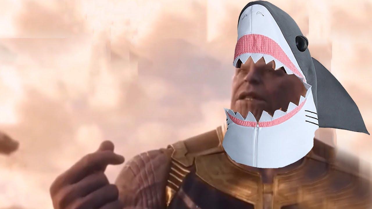 Baby Thanos Shark Baby Shark Marvel Thanos Tony Stark Parody