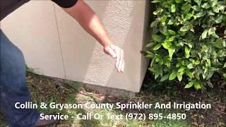 Sprinkler System Repair Example - McKinney, Frisco, Allen, Sherman, Denison, Collin & Grayson County