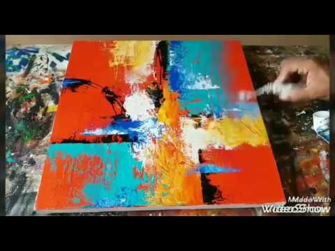 Palette Knife Abstract Canvas Art Tutorial