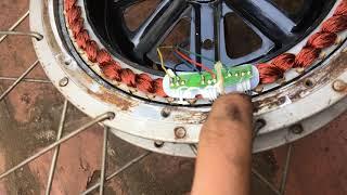 bánh xe đạp điện bên trong có gì - chế gì với nó đây ???
