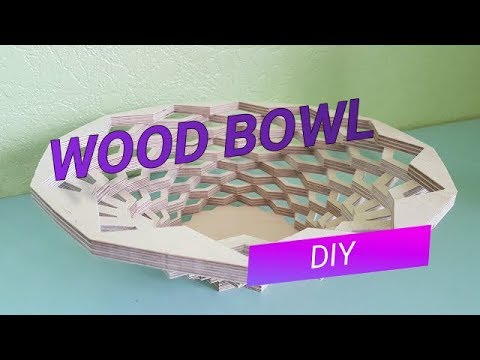 How to make a wood bowl using CNC | DIY wooden bowl