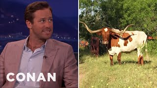 Armie Hammer Knows A Lot About Bull Breeding  - CONAN on TBS