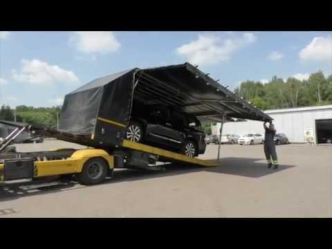 Крытый эвакуатор. Перевозка крытым эвакуатором по России и Европе. Toyota LC 200