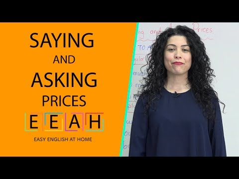 English for Beginners #25: Saying and Asking Prices | Easy English at Home