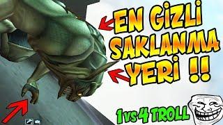WOLFTEAM GİRİŞ EN GİZLİ SAKLANMA YERİNDE TROLL !! 1 VS 4 SAKLANARAK TROLL !!