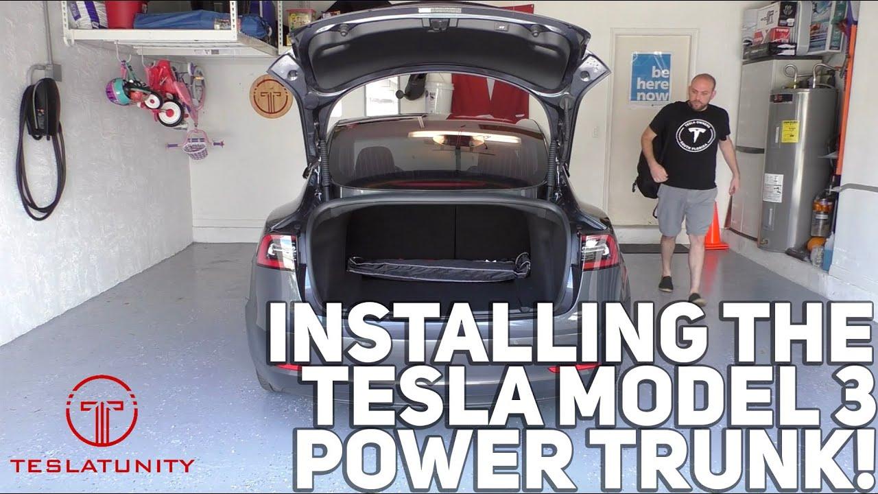 Installing the Tesla Model 3 Power Trunk! - YouTube
