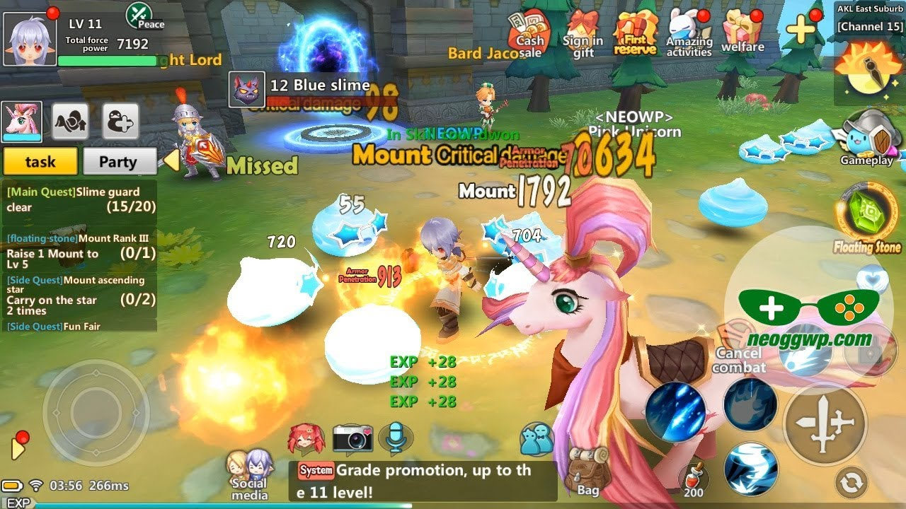 Luna Fantasy (Android iOS APK) - MMORPG Gameplay, Mage Lv 1-12 (CBT)