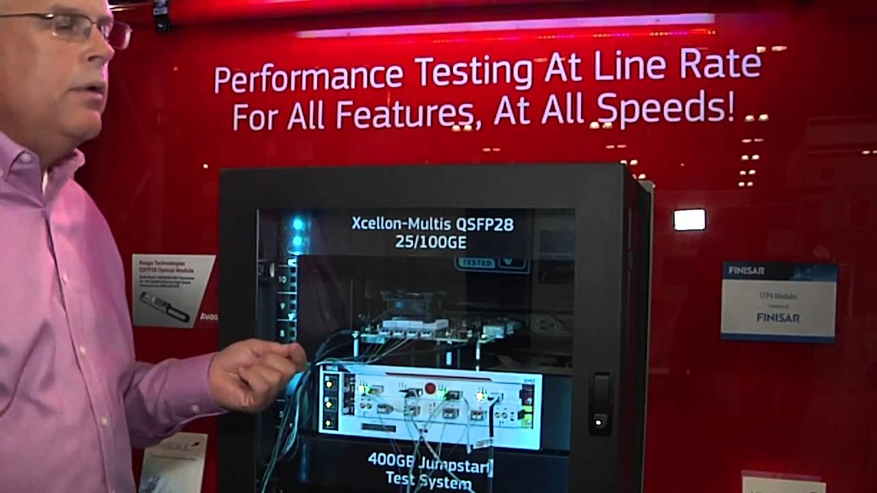 Ixia Demo of Worlds First 25 Gigabit Ethernet 25GbE Test Solution
