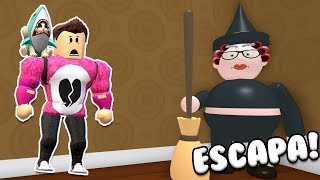 ESCAPE FROM GRANDMA WITCH ON HALLOWEEN | Cerso Roblox Escape Grandma's House Obby