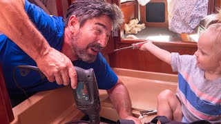 BOAT WORK FAIL - When things go sideways! - Sailing Vessel Delos Ep. 312