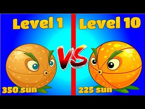 Plants vs Zombies 2 CITRON Level 10 vs CITRON Level 1 Level UP