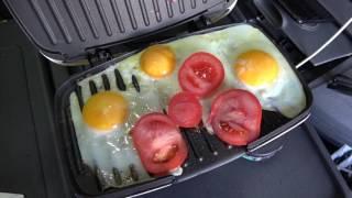 Кухня дальнобойщика: Яичница на гриле №2