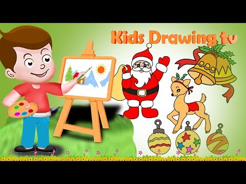 Drawing Christmas Paint And Colouring For Kids | Kids Drawing TV