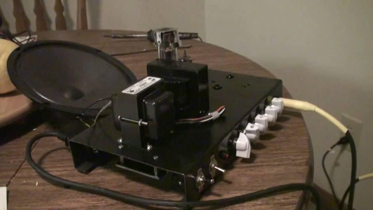 5 watt se guitar tube amp diy fender preamp ax84 poweramp youtube solutioingenieria Image collections