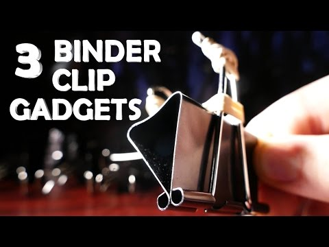 3 Incredible Binder Clip Gadgets!