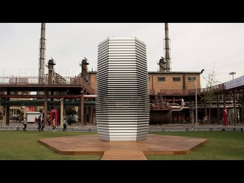 Jewelry-making smog tower unveiled in Beijing
