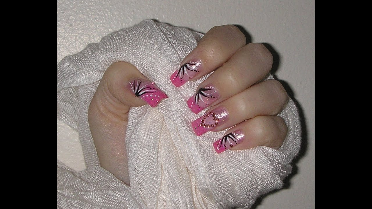 Valentine nail design 2014 youtube prinsesfo Choice Image