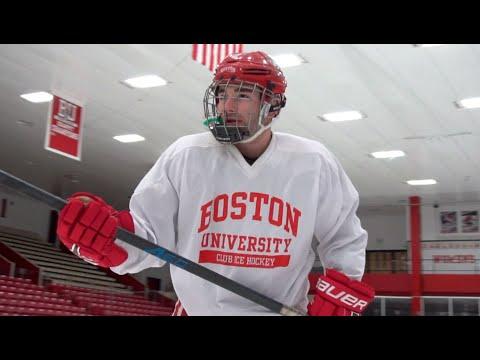 Watch Me Play Hockey   ARLIN MOORE ft. Boston University Red Pups (BU Vlogmas Day 12)