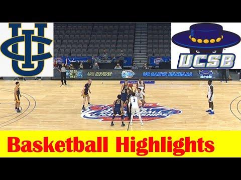 UC Irvine vs UC Santa Barbara Basketball Game Highlights, 2021 Big West Championship