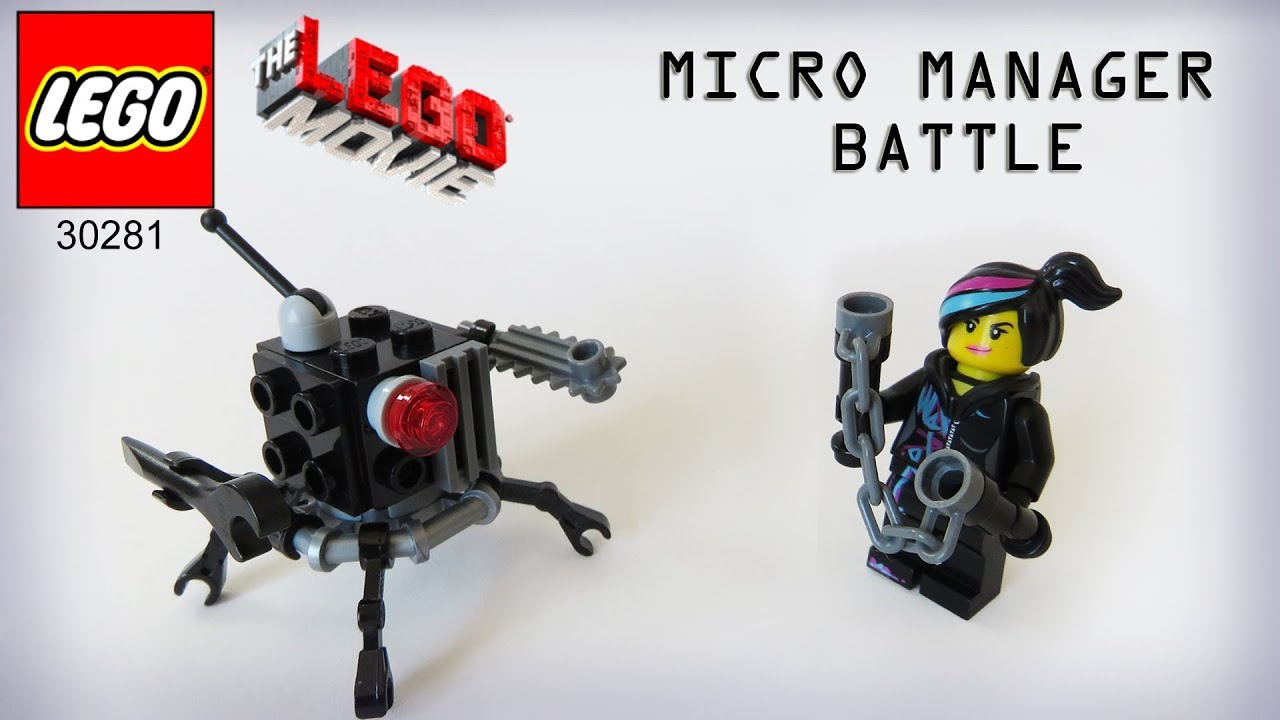 Lego Movie Micro Manager Battle Polybag 30281 Build Instructions Youtube