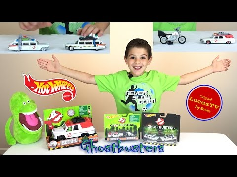 Ghostbusters Hot Wheels and Mattel Ecto Vehicles Slimer and Bloopers