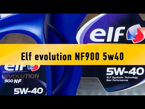 Elf Evolution 900 NF 5w-40 - обзор моторного масла